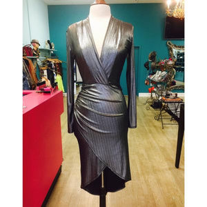 Dresses & Skirts - Metallic Wrap Dress